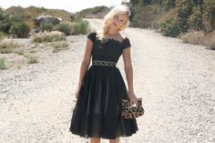 Vintage 50s Dress/ 1950s Party Dress/ Flair by WhenDecadesCollide, $289.00