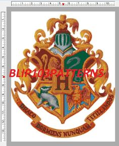 Harry Potter Crest Cross-stitch pattern.  This one looks like a doozy!