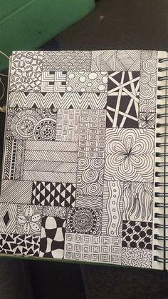 Mandala Drawing Zentangle Drawings Sharpie Drawings Doodles Zentangles Doodle Drawings Easy Drawings Doodle Art Patterns To Draw Doodle Patterns Easy Doodle Art, Doodle Art Designs, Doodle Art Drawing, Zentangle Drawings, Cool Art Drawings, Art Drawings Sketches, Zentangle Patterns, Drawing Drawing, Easy Mandala Drawing
