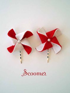 Pinwheel bobby pins. So cute!