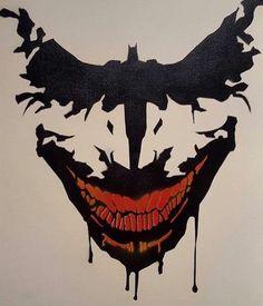 Funny pictures about Batman Painting. Oh, and cool pics about Batman Painting. Also, Batman Painting photos. Joker Batman, Joker Art, Batman Art, Batman Poster, Joker Comic, Gotham Batman, Batman Robin, Joker Kunst, Batman Kunst