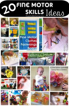 20 fine motor skill ideas for toddlers!