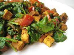 Revuelto de tofu marinado