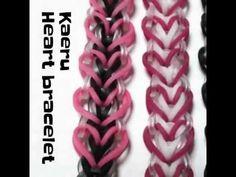 Karen Heart bracelet Rainbow Loom tutorial by Kaeru Rainbow Loom