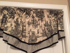 Details About Black  White French Country Toile Fingertip Guest - French country valances