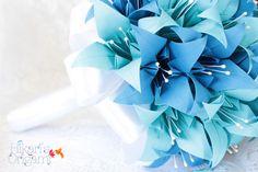 Buquê de Origami - Lírios I para noivas - Hikari's Origami -  Saiba mais em: http://hikarisorigami.wix.com/hikarisorigami