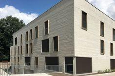Röben Klinker, Bricks | Studentenwohnungen, Gent (BE) | Klinker: Mischung aus den Röben Keramik-Klinkern ESBJERG und OSLO perlweiß LDF | Foto: Röben, Gent (BE)