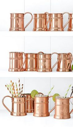 Copper mugs? Yes, please! http://rstyle.me/n/nmd9sn2bn
