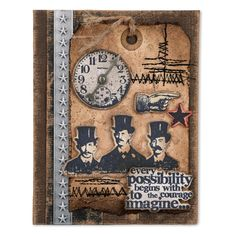 Sizzix - Framelits Die Set by Tim Holtz - 5pk w/ Stamps - Possibilities
