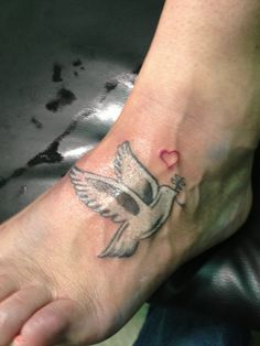 Dove on foot