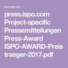 press.ispo.com Project-specific Pressemitteilungen Press-Award ISPO-AWARD-Preistraeger-2017.pdf