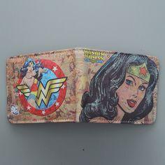 Aliexpress.com: Comprar DC Superhéroe Wonder Woman Súper Mujeres de Dibujos Animados de la Carpeta Carpeta de La Manera Monedero de Las Mujeres Personalizadas Anime Billetera Para Adolescentes Chica Estudiante de wallet owl fiable proveedores en AWEN_SHAW Store