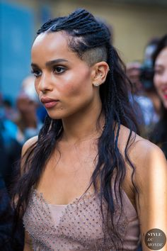 Zoe Kravitz Street Style Street Fashion Streetsnaps by STYLEDUMONDE Street Style Fashion Photography