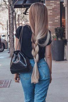 Beautiful Long Hair in 2020 Beautiful Long Hair, Gorgeous Hair, Super Long Hair, Really Long Hair, Aesthetic Hair, Pretty Hairstyles, Hair Looks, Hair Inspiration, Curly Hair Styles