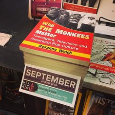 Why The Monkees Matter Book Signing tonight with @drrosannewelch #book #monkees #writing #signing