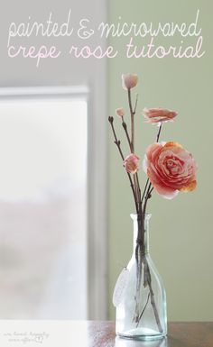 diy painted crepe paper flower tutorial