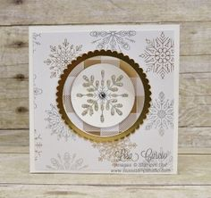 Corner Pop Up Swing Card uses Snowflake Sentiments from Stampin' Up!.