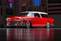1955 CHEVROLET NOMAD CUSTOM WAGON - Barrett-Jackson Auction Company - World's Greatest Collector Car Auctions