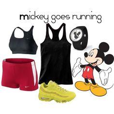 Mickey Mouse inspired running outfit possible 2013 Disney Family 5k outfit?...this one is for you Vicki!!!!!!