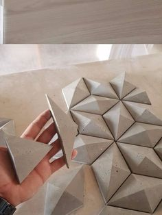 tiles element of interior design of wall manually fabric Concrete Crafts, Concrete Tiles, Concrete Projects, Concrete Design, Tile Design, 3d Tiles, Fabric Design, Beton Design, Concrete Furniture