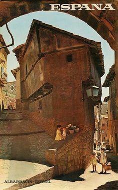DP Vintage Posters - Albarrancin-Tereul Spain Original Travel Poster