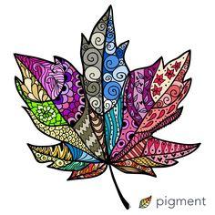 Zentangle Drawings, Mandala Drawing, Zentangle Patterns, Art Drawings, Zentangles, Tangle Art, Feather Art, Zen Art, Autumn Art