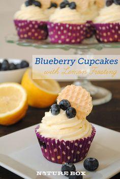 Blueberry lemon cupcakes (made with greek yogurt)