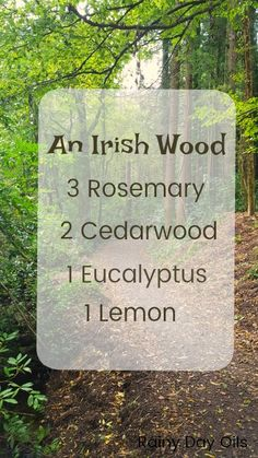 Take a walk through an Irish wood. If that isn't possible, then just tuck this blend in your diffuser to make your whole house smell like you did!
