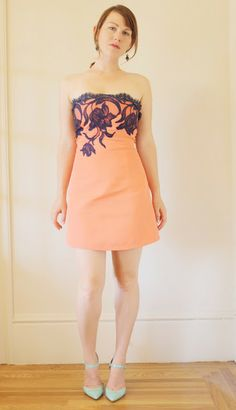 Birds of a Thread: Refashioned Dress: Cotton and French Lace