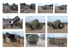 "Waste collection Mini truck. ""chota hathi"""