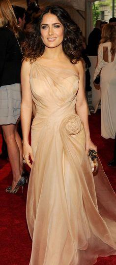 Salma Hayek in Alexander McQueen. Love this woman, love this dress.