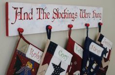 the stockings were hung sign with hooks - Google Search