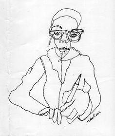 auto-retrato. desenho cego