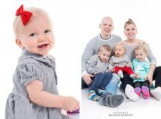 Barnfotografering, barn och familj, studiobilder, studiofotografering