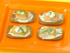 Smoked Trout Canapes with Creme-Fraiche and Herb Sauce for Two from FoodNetwork.com