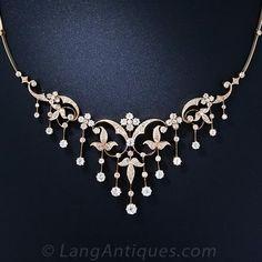 Antique Diamond Necklace - Lang Antiques