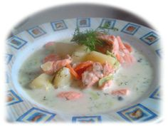 Lohikeitto, which is a creamy salmon soup