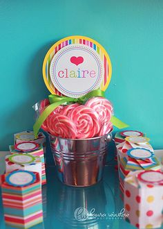 Lollipop Invitations - Do It Yourself INSTRUCTIONS for Layered Invitations - The TomKat Studio. via Etsy.