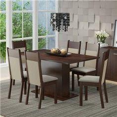 Conjunto para Sala de Jantar Mesa e 6 Cadeiras ...