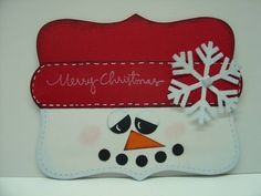 Top Note Gift Card Holder, #1, 2009,Snowman by craftymomto2 - Cards and Paper Crafts at Splitcoaststampers