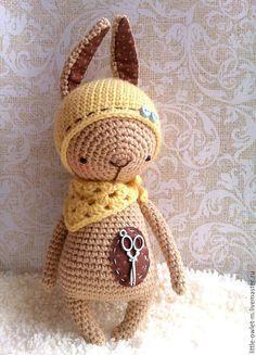 Купить Зайка - зайка, зайчик, вязаная игрушка, вязание крючком, вязаный зайчик, вязаный зайка