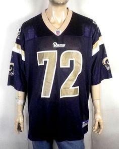 fa69ca15cdd euc Reebok On Field Los Angeles LA Rams Chris Long Jersey NFL St Louis sz  2XL