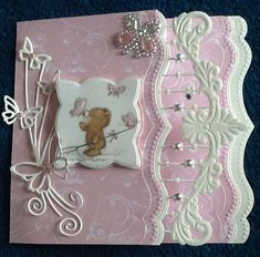 New Marianne die,Joanne Sheen butterfly die and Spellbinders Brackets Borders dies .