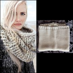 NWOT BCBGMaxAzria knit scarf Soft and cozy white/cream and foil BCBGMazAzria cowl neck knit scarf! Final picture shows color best.  91% acrylic 9% polyester.   Picture with model is not of scarf. BCBGMaxAzria Accessories Scarves & Wraps