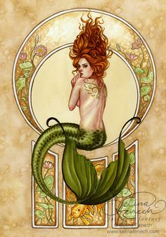 *mermaid with body art
