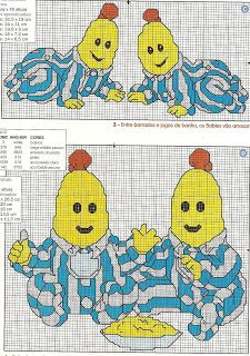 ENCANTOS EM PONTO CRUZ: Bananas de Pijama