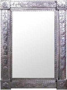 """Tin Mirror """"rectangular"""""""