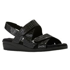 Orwell Sandal in Black Croc Patent Leather Crocs, Patent Leather, Walking, Women's Sandals, Black, Fashion, Moda, Women Sandals, Black People