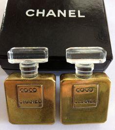 SALE Vintage Coco CHANEL Perfume Bottle Earrings by billysbungalow,  475.00 Chanel  Perfume, Best Perfume 56d59aa49f