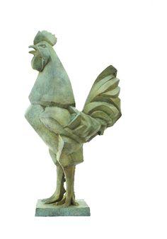 Margriet Barends, 'Haan',  brons,  68 x 40 x 25 cm  (h x br x d)